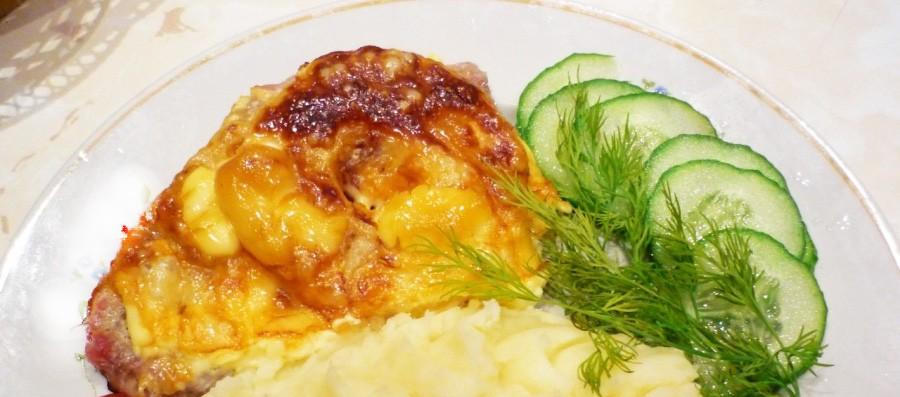мясо с сыром и сметаной