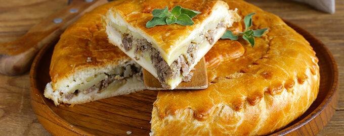 мясной пирог с рубленным мясом