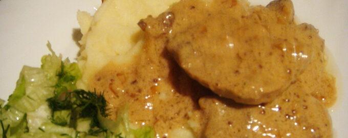свинина в горчином соусе